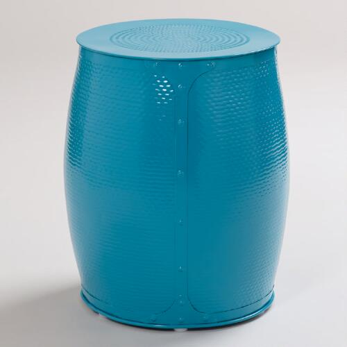 Pagoda Blue Lucas Wrapped Stool