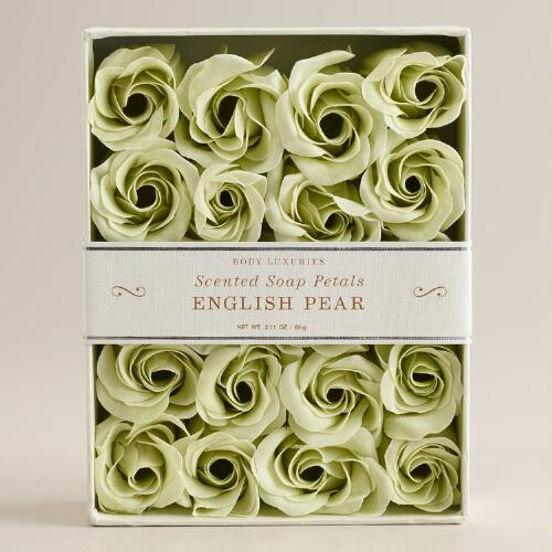 English Pear Soap Petals, 20-Piece