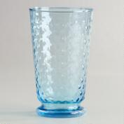Aqua Hobnail Highball Glasses, Set of 4