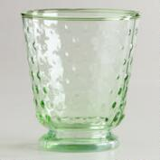Green Hobnail Double Old Fashioned Glasses, Set of 4
