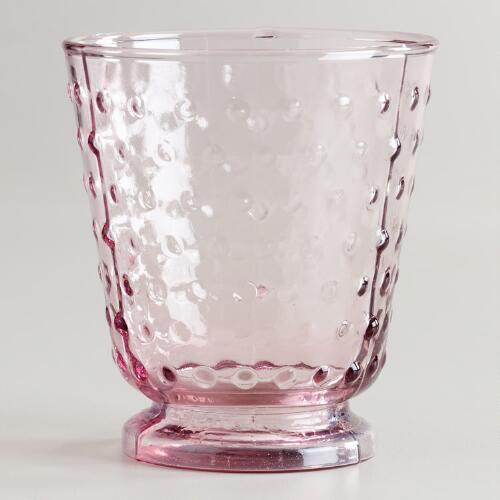 Plum Hobnail Double Old Fashioned Glasses, Set of 4