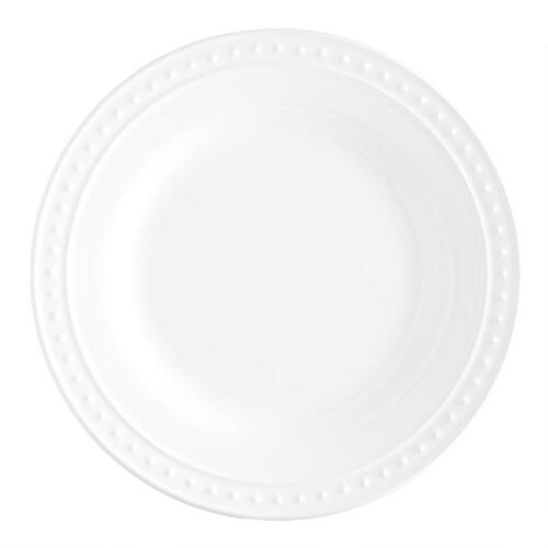 White Nantucket Dinner Plates, set of 4