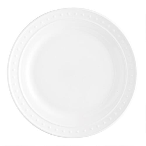 White Nantucket Salad Plates, set of 4