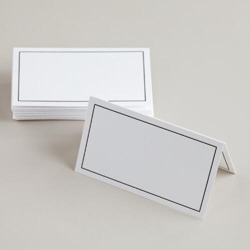 Black Line Place Cards, 12-Count