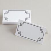 Gray Line Place Cards, 12-Count