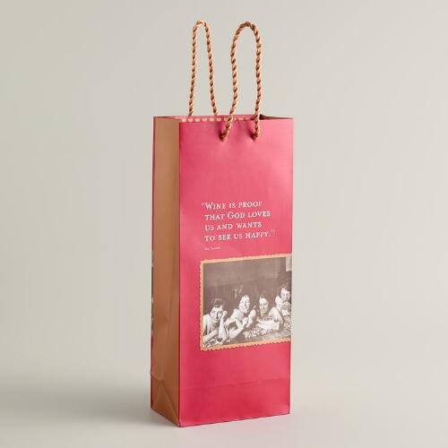 "Shannon Martin ""Wine is Proof"" Wine Bag"