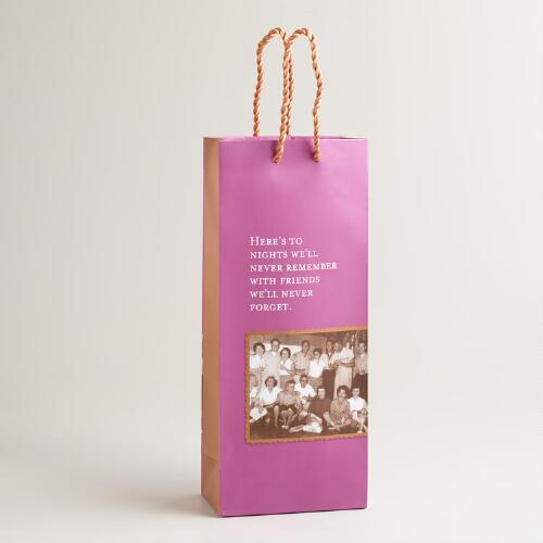 "Shannon Martin ""Never Remember"" Wine Gift Bag"