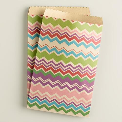Zigzag Birthday Goodie Bags, 20-Count