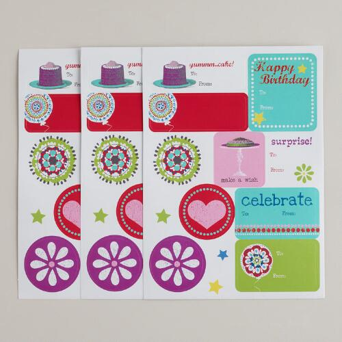 Birthday Sticker Gift Labels