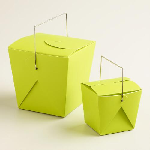 Apple Green Takeout Boxes, Set of 4