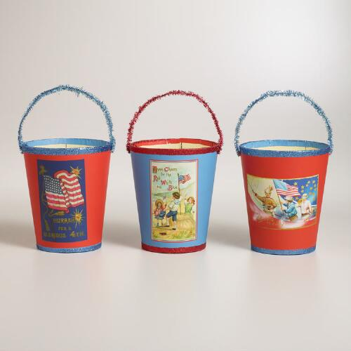 Americana Containers, Set of 3