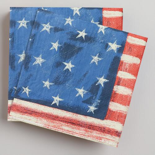 Stars and Stripes Lunch Napkins, 16-Count