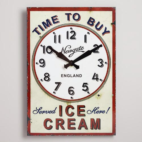Time to Buy Ice Cream Clock