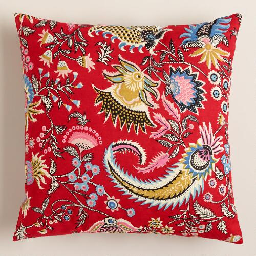Red Harlow Americana Throw Pillow