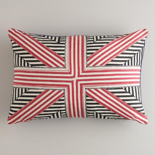 Union Jack Pieced Lumbar Pillow