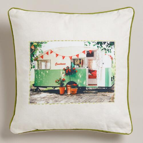 Constance Recycled Tarp Throw Pillow