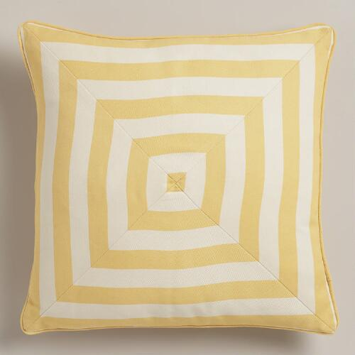 Cornsilk Yellow Stripe Throw Pillow