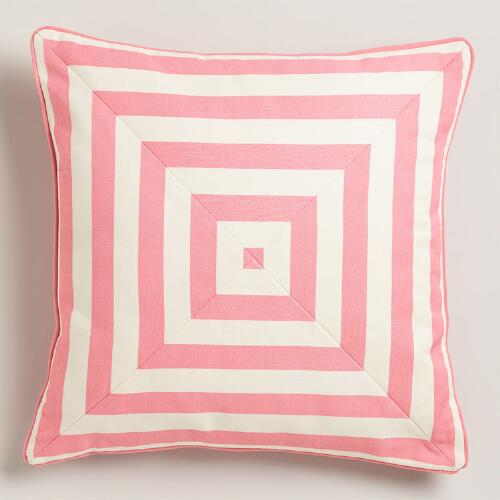 Mauve Stripe Throw Pillow