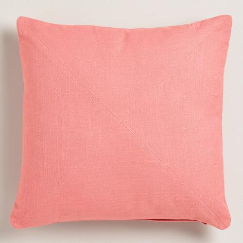Mauve Cotton Herringbone Throw Pillow
