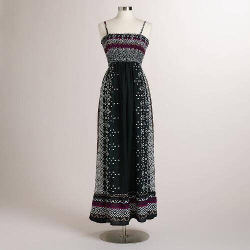 Black and White Tribal Kanika Maxi Dress