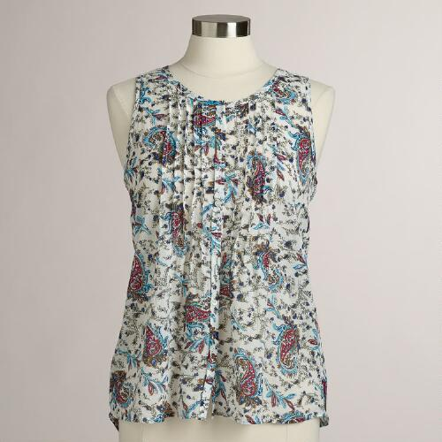 Paisley and Lace Harlow Tank Top