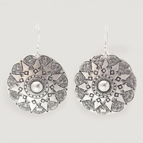 Novica Lampang Moon Dangle Earrings