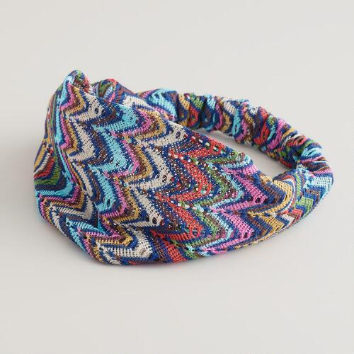 Multicolored Chevron Headband