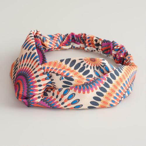 Pink and Orange Twisted Headband