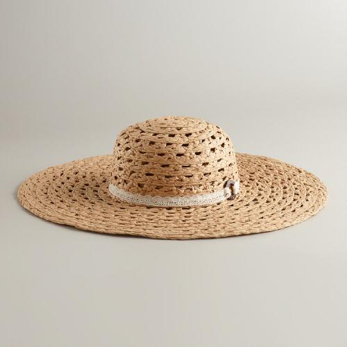 Open Weave with Crochet Sun Hat