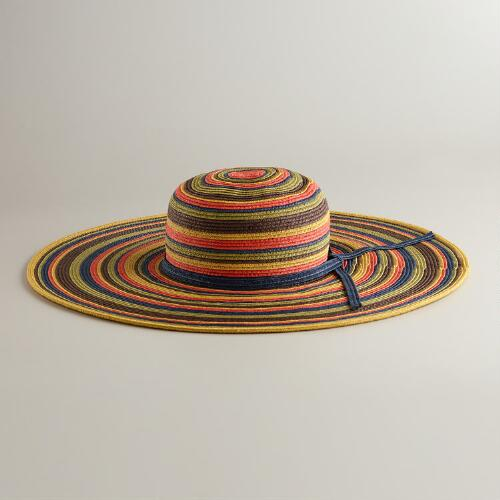 Blue and Orange Multicolored Sun Hat