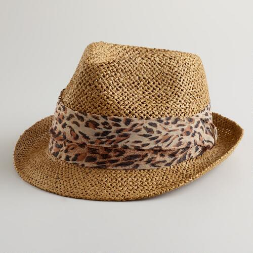 Animal Ribbon Fedora Hat