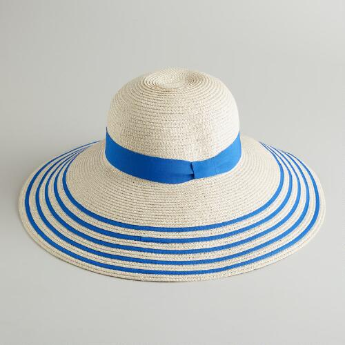Blue Bordered Sun Hat