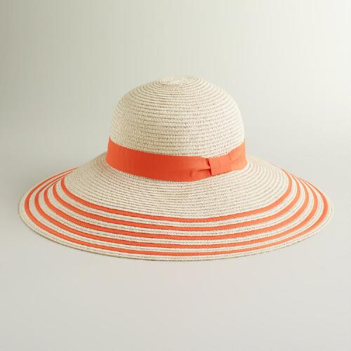 Orange Bordered Sun Hat