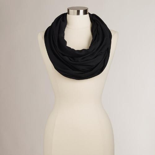 Black Summer Infinity Scarf