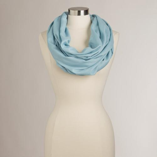Blue Gray Summer Infinity Scarf