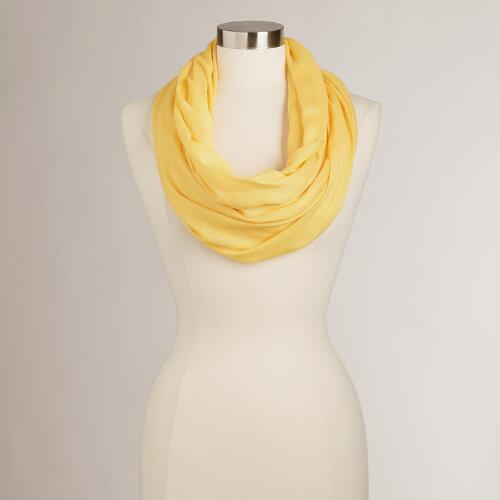 Yellow Summer Infinity Scarf