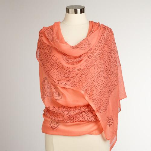 Pink-Coral Prayer Shawl