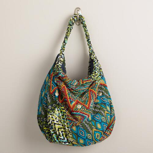 Large Multicolored Ikat Bag