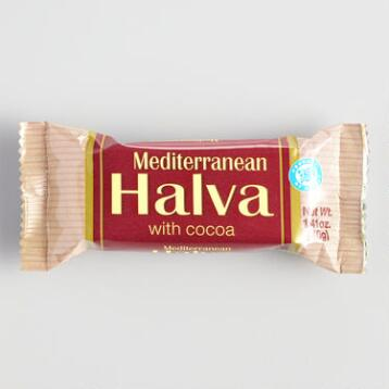 Mediterranean Halva Bar with Cocoa, Set of 16