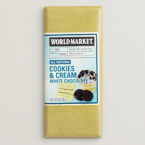 World Market® Cookies and Cream White Chocolate Bar