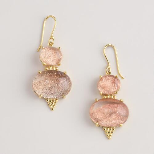 Sandstone Drop Earrings