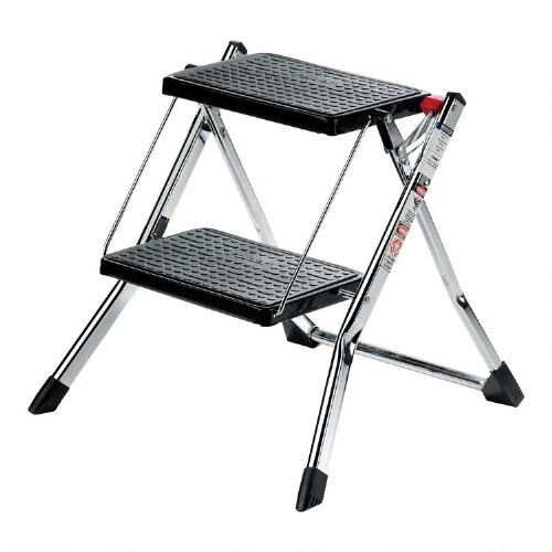 Chrome 2-Step Mini Stool