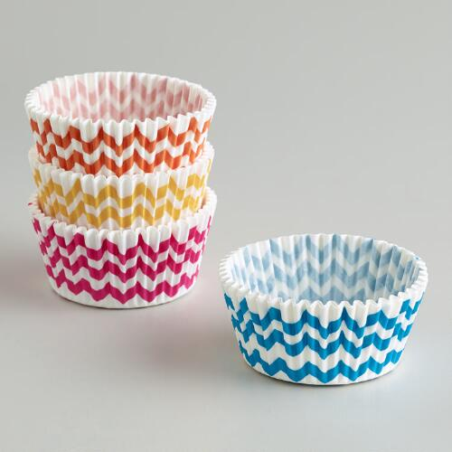Chevron Cupcake Liners, 100-Count