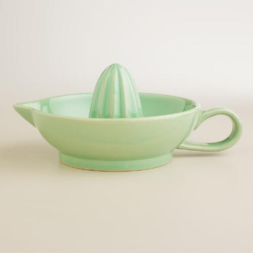 Green Ceramic Citrus Juicer