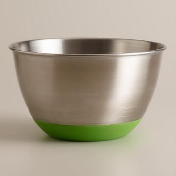 Green 3-Quart Stainless Steel Mixing Bowl