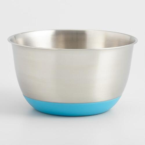 Aqua 5-Quart Stainless Steel Mixing Bowl