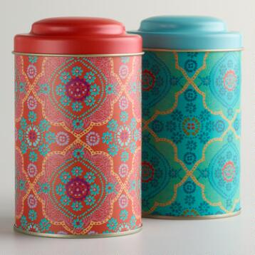 Mosaic Tea Tins, Set of 2