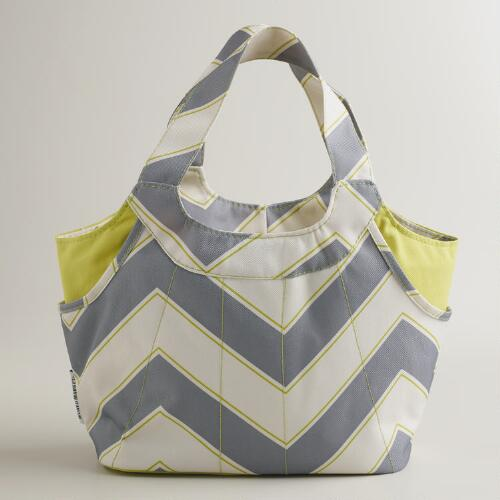 Gray Chevron Jane Lunch Bag