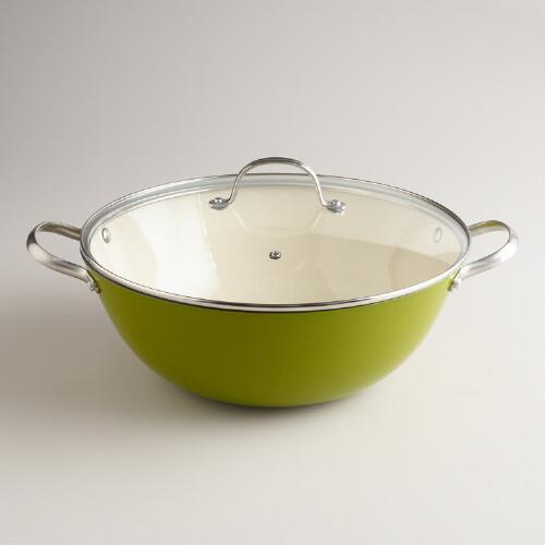 Green Lightweight Cast Iron Stewpot