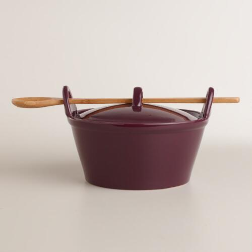 Fig Potluck Baker with Serving Spoon